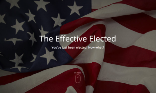 The Effective Elected homepage